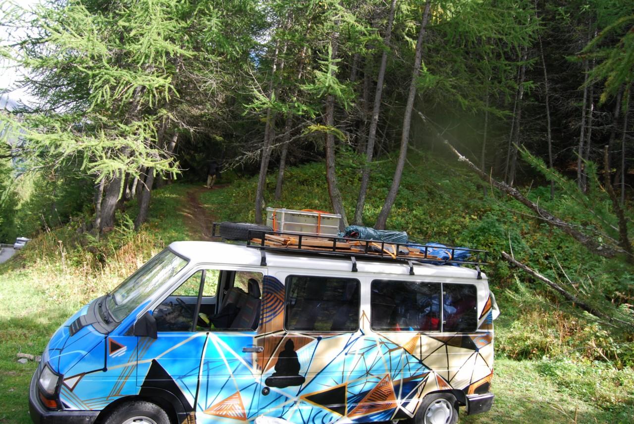 itinéraire road trip europe : van graphé