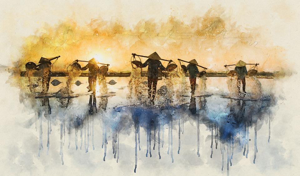 pourquoi mission humanitaire : aquarelle asie