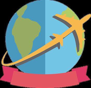 pourquoi mission humanitaire : globe terrestre avec avion