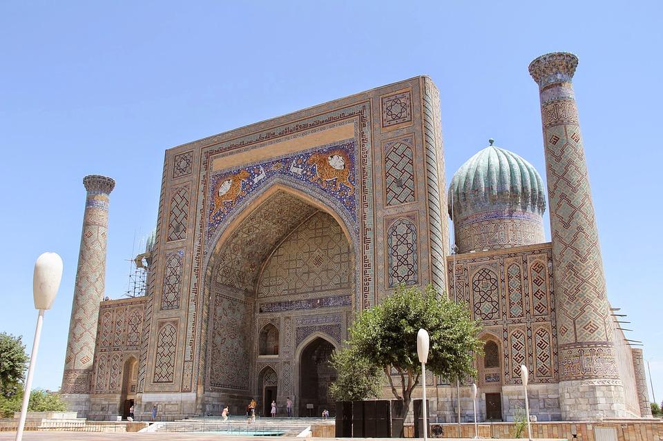 voyage en ouzbékistan : mosquée